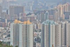 Centra av Hong Kong, kick - täthet, fattigt område arkivfoton