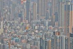 Centra av Hong Kong, kick - täthet, fattigt område arkivbild