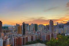 Centra av Hong Kong, kick - täthet, fattigt område arkivfoto