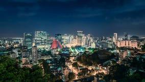 Centra av Rio de Janeiro vid natt lager videofilmer