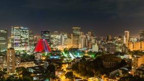 Centra av Rio de Janeiro vid natt stock video