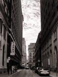 Centra centrerar gatan för stadsPhiladelphia PA Urban Arkivfoto