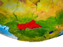 Centraal-Afrika op 3D Aarde stock afbeeldingen
