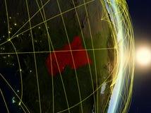 Centraal-Afrika op genetwerkte aarde royalty-vrije stock foto