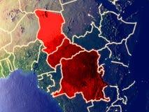 Centraal-Afrika ter wereld bij nacht royalty-vrije stock fotografie