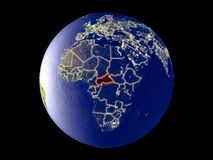 Centraal-Afrika ter wereld van ruimte royalty-vrije stock foto