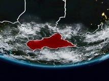 Centraal-Afrika tijdens nacht royalty-vrije stock afbeeldingen
