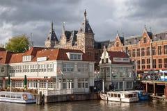 Centraal Amsterdam Royalty-vrije Stock Foto
