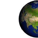 Centraal-Azië op model van Aarde met in reliëf gemaakt land Stock Afbeelding