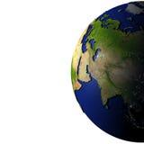 Centraal-Azië op model van Aarde met in reliëf gemaakt land Royalty-vrije Stock Afbeeldingen