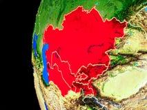 Centraal-Azië van ruimte vector illustratie
