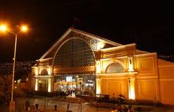 Centraal busstation in de nacht, La Paz, Bolivië Royalty-vrije Stock Foto's