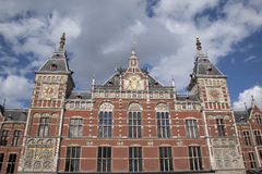 Centraal - Central Railway Station; Amsterdam; Holland. Netherlands Stock Photo