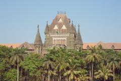 Centraal deel van de Mumbai-Hoge rechtsinstantie stock fotografie