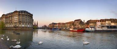 Centraal deel van de stad van Straatsburg, Frankrijk Royalty-vrije Stock Afbeelding