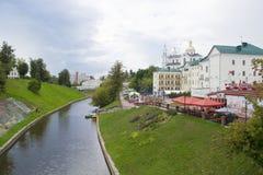 Centraal deel van de stad van Vitebsk, Wit-Rusland Stock Foto