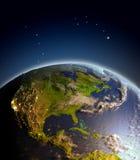 Centraal en Noord-Amerika van ruimte royalty-vrije illustratie