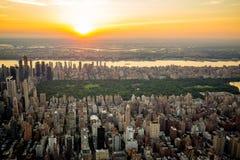 Centraal het parksatellietbeeld van New York in de zomer royalty-vrije stock afbeeldingen