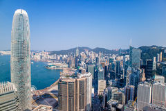 Centraal Hong Kong Island Bay stock afbeelding