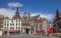 Centraal marktvierkant in Nijmegen stock afbeelding