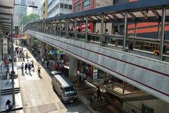 Centraal-medio-niveausroltrappen in Hong Kong stock foto's