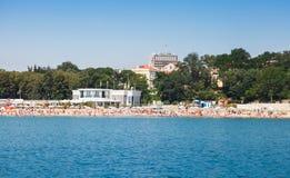 Centraal openbaar strand van Burgas royalty-vrije stock fotografie