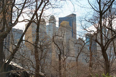 Centraal park Stock Foto's