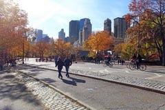 Centraal park bij zonnige dag, de Stad van New York royalty-vrije stock foto