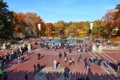 Centraal park bij zonnige dag, de Stad van New York stock afbeelding