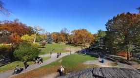 Centraal park bij zonnige dag, de Stad van New York royalty-vrije stock fotografie