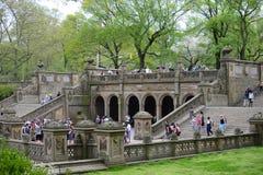 Centraal park in de lente Stock Fotografie