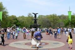 Centraal park in de lente Royalty-vrije Stock Foto