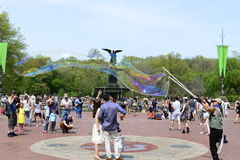 Centraal park in de lente Royalty-vrije Stock Fotografie