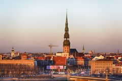 Centraal Riga stock foto's