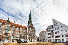 Centraal Riga stock afbeeldingen
