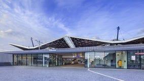 Centraal Station bij dageraad, Tilburg, Nederland Stock Afbeelding