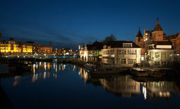 Centraal Station at night Stock Photography