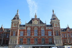 Centraal Station. Centraal railway station in Amsterdam, Netherlands Royalty Free Stock Photos