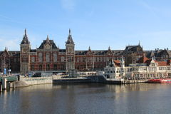 Centraal Station. Centraal railway station in Amsterdam, Netherlands Royalty Free Stock Images