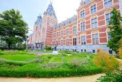 Centraal station van Amsterdam & x28; super-wijd angle& x29; royalty-vrije stock fotografie