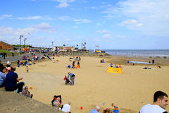 Centraal strand, Mablethorpe Stock Foto