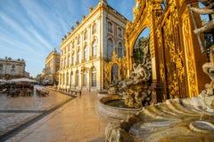 Centraal vierkant in de oude stad van Nancy, Frankrijk royalty-vrije stock fotografie