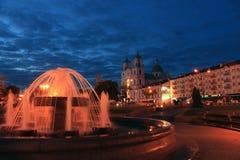 Centraal vierkant in Grodno Royalty-vrije Stock Foto