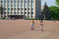 Centraal Vierkant in Khmelnytsky, de Oekraïne Royalty-vrije Stock Afbeelding