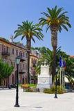 Centraal vierkant in Nafplion, Griekenland Royalty-vrije Stock Fotografie