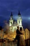 Centraal Vierkant Praag, Tsjechische Republiek Royalty-vrije Stock Afbeeldingen