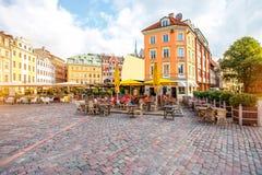 Centraal vierkant in Riga stock fotografie