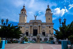 Centraal vierkant in Santiago de Cuba stock afbeelding