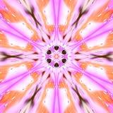Centrado alrededor de mandala de la estrella, ornamento del arabesque violeta, magenta, púrpura, beige, rosado y anaranjado Foto de archivo libre de regalías