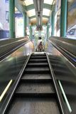 Central–Mid-Levels escalator in Hong Kong Royalty Free Stock Images